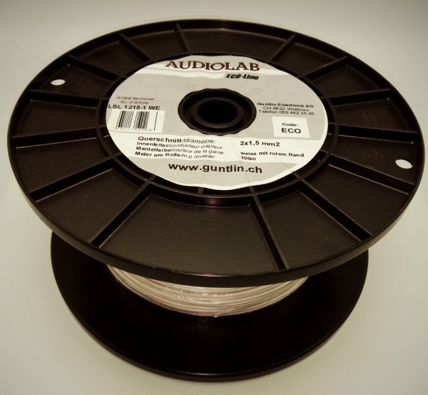 AUDIOLAB Eco-LS-Kabel 2x1.5mm2 weiss, PVC