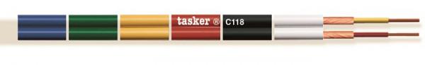 Tasker Audiokabel trennbar, geschirmt C118, rot