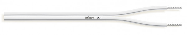 Tasker Audio Cable TSK74, weiss, Silikon Mantel