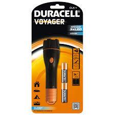 Duracell Taschenlampe, Kunststoff, schwarz