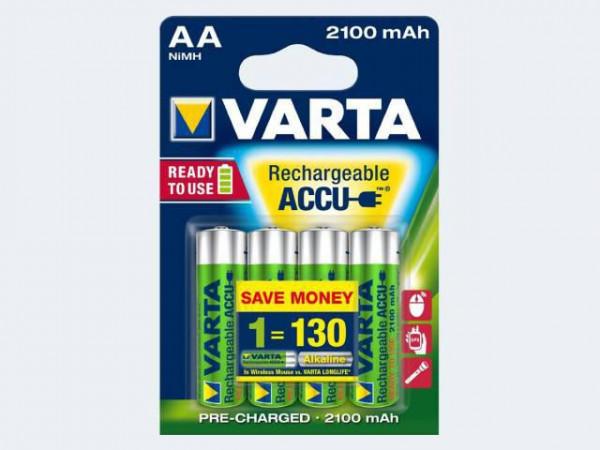 Varta Accu 2100mAh, HR6, 1.2V, V56706