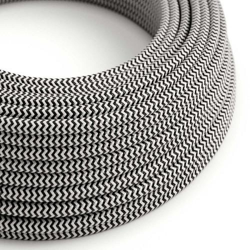 AUDIOLAB Textil-Netzkabel, rund, weiss/schwarz