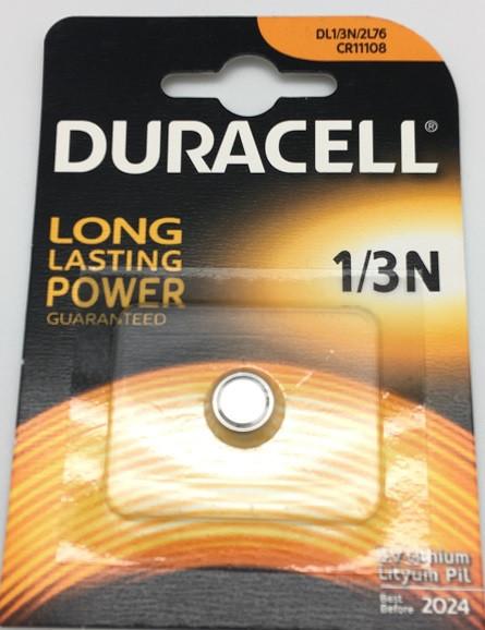 Duracell Lithium DL1/3N, 2LR76, CR11108, 3V