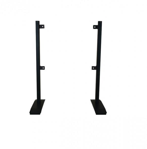 Tischfuss Twin 100, schwarz, Metall, 1 Paar/2 Stk