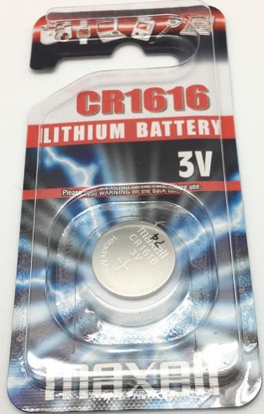 Maxell CR1616, 3V, 55mAh, Lithium 16x1.6mm