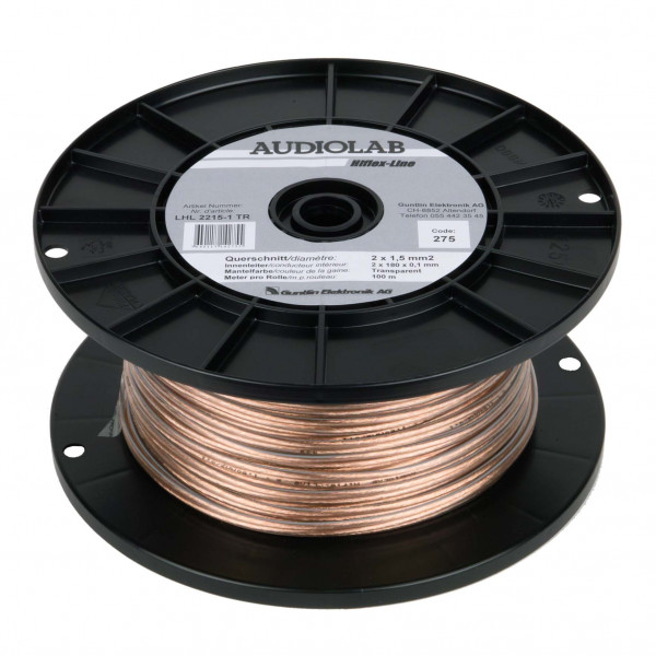 AUDIOLAB Hiflex-LS-Kabel, LHL 2215-1 transp