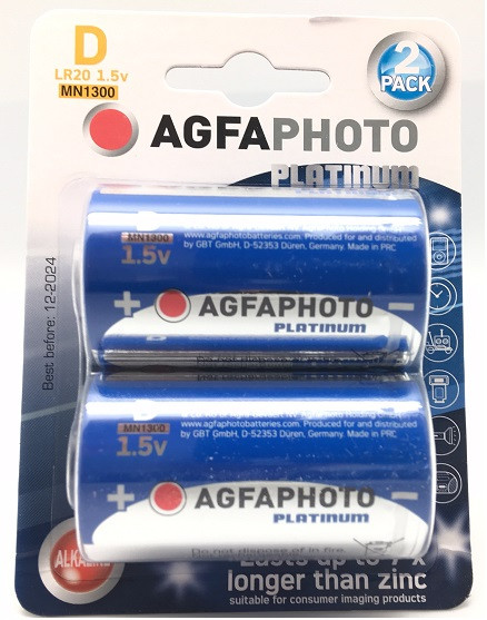Agfa Photo Alkaline LR20 Mono, D