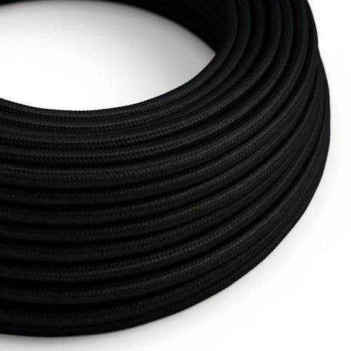 AUDIOLAB Textil-Netzkabel, rund, schwarz