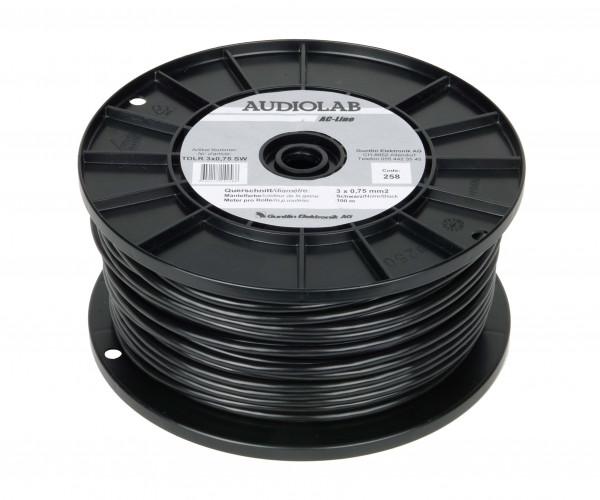 AUDIOLAB Netzkabel, rund, schwarz