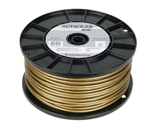 AUDIOLAB Netzkabel, rund, goldfarben