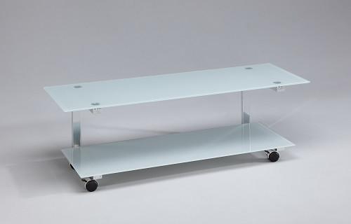 AUDIORAQ Glasmöbel Rauchglas/Chrom Metall