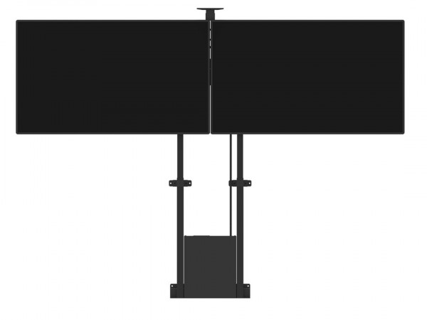 MB motorisierter Dual TV-Ständer, schwarz/8991