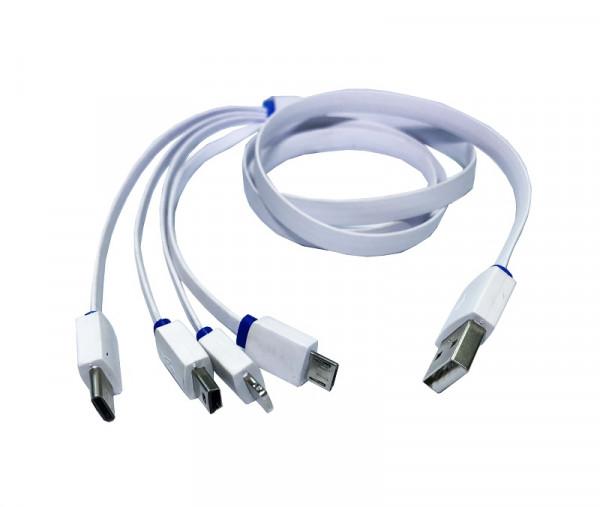 Ladekabel von USB auf Lighting, MiniUSB,