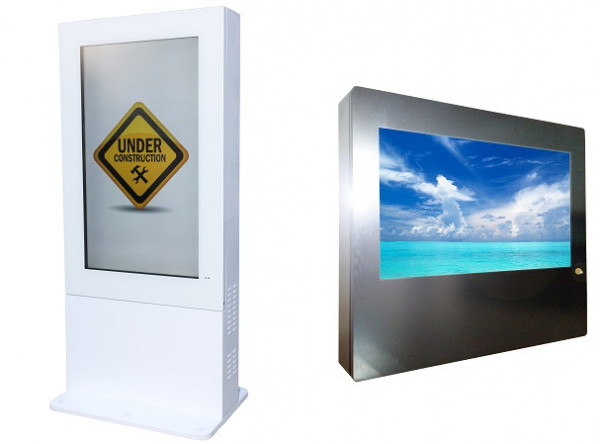 Outdoor/Indoor Monitor Box, Wandmontage, 55""