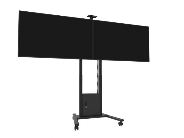 MB motorisierter Dual TV-Ständer, schwarz/8557