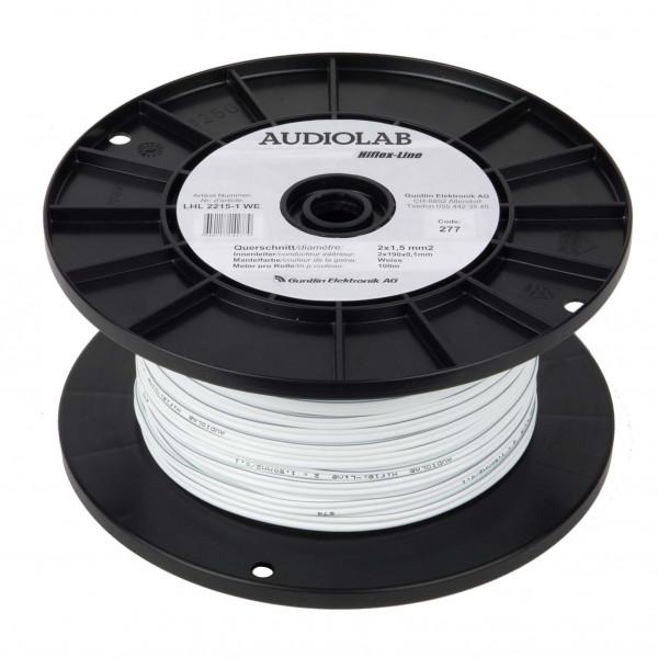 AUDIOLAB Hiflex-LS-Kabel, LHL 2215-2, weiss