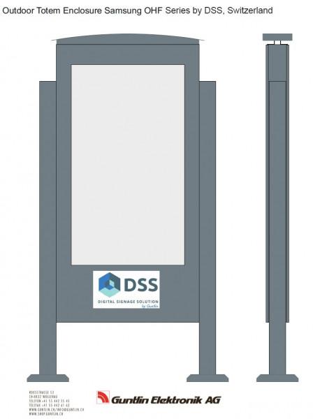 Outdoor Monitorbox Stele für Samsung OHF55