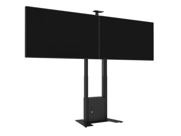 MB motorisierter Dual TV-Ständer, schwarz/9004