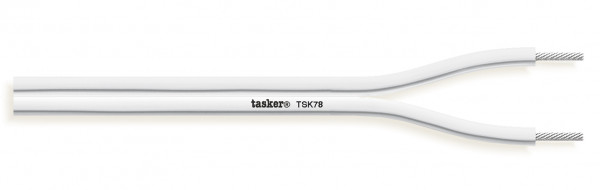Tasker Audio Cable TSK78, weiss, Silikon Mantel