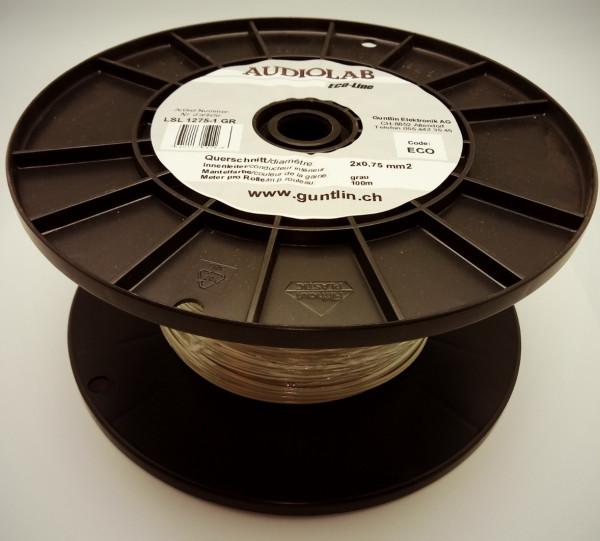 AUDIOLAB Eco-LS-Kabel 2x0.75mm2 grau, PVC
