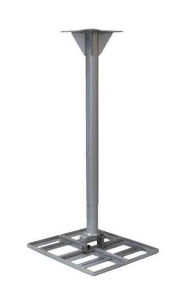 Erard Projektor-Deckenhalter, Metall, silber/