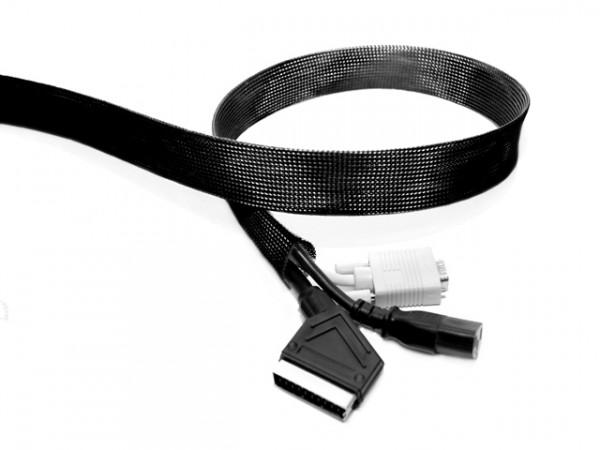 Kabelsocken, D=20mm, L=10m, schwarz/1509