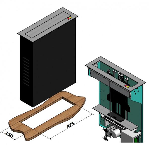 "Monitor Lift DSS, schwarz, Metall, 19"" / 1152"